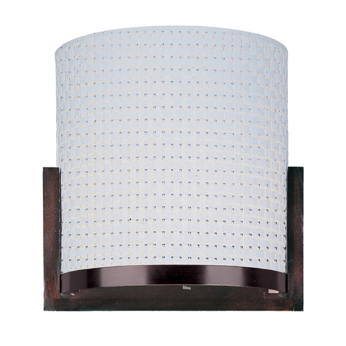 ET2 Lighting Modern Sconce Wall Light with White Shade in Oil Rubbed Bronze Finish E95080-100OI