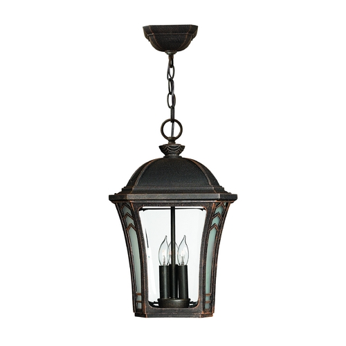 Hinkley Lighting Outdoor Hanging Light with Clear Glass in Mocha Finish 1332MO