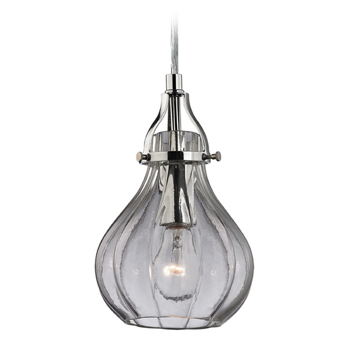Elk Lighting Mini-Pendant Light with Clear Glass 46014/1