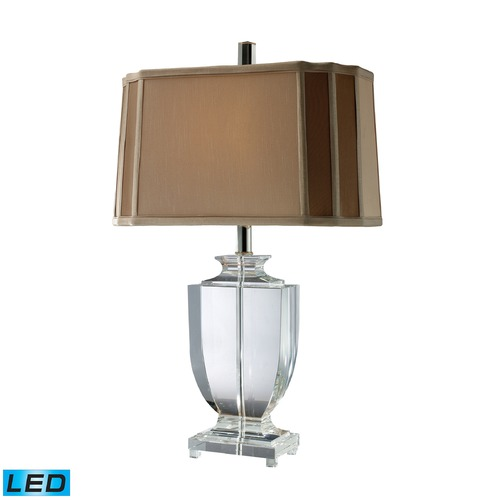 Dimond Lighting Dimond Lighting Clear Crystal LED Table Lamp with Cut Corner Shade D1814-LED