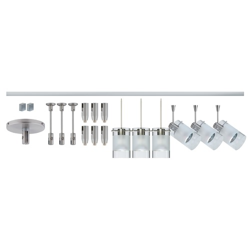 Besa Lighting Besa Lighting Scope Satin Nickel LED Rail Kit R12-K08LE-6524EC-SN