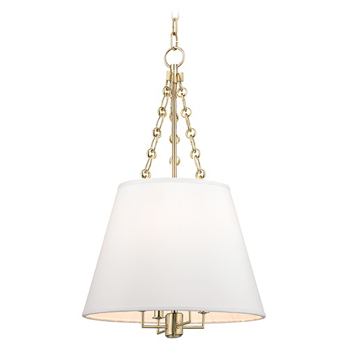Hudson Valley Lighting Hudson Valley Lighting Burdett Aged Brass Pendant Light with Empire Shade 6415-AGB