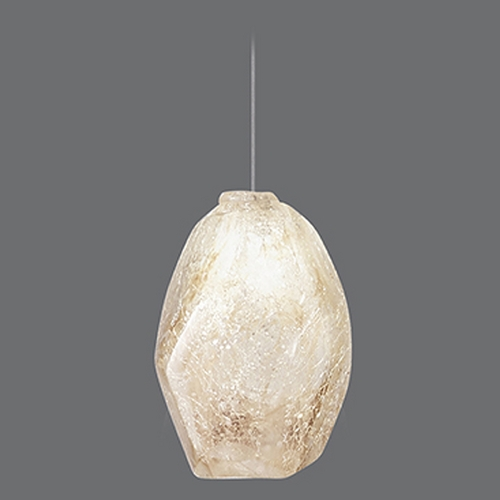 Fine Art Lamps Fine Art Lamps Natural Inspirations Silver Leaf Mini-Pendant Light 851840-18ST