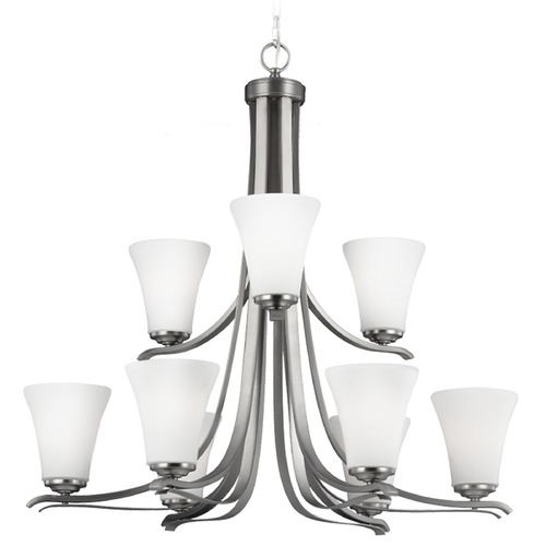 Feiss Lighting Feiss Lighting Summerdale Satin Nickel Chandelier F2980/9SN