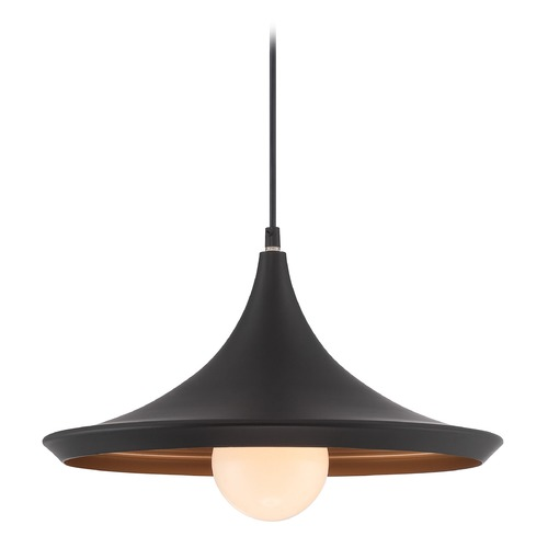Lite Source Lighting Lite Source Landis Black / Copper Pendant Light with Conical Shade LS-19602BLK