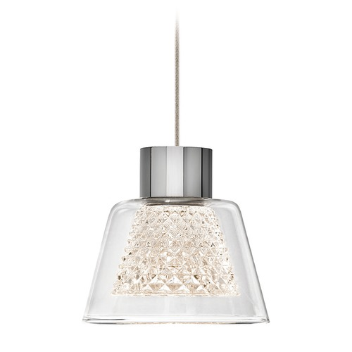 Elan Lighting Elan Lighting Ausa Chrome LED Mini-Pendant Light with Bell Shade 83354