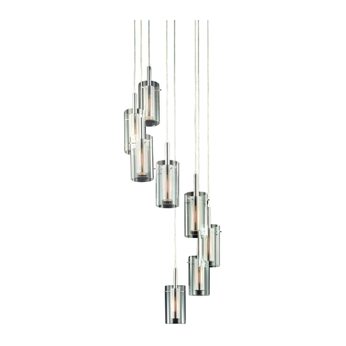 Sonneman Lighting Modern Multi-Light Pendant Light with Clear Glass and 8-Lights 4399.57