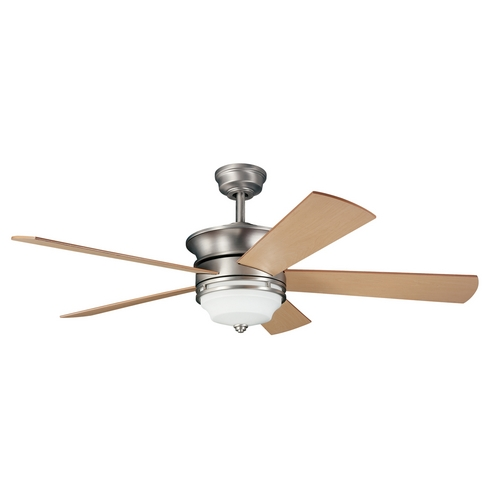 Kichler Lighting Kichler Ceiling Fan with Light Kit in Brushed Nickel Finish 300114NI