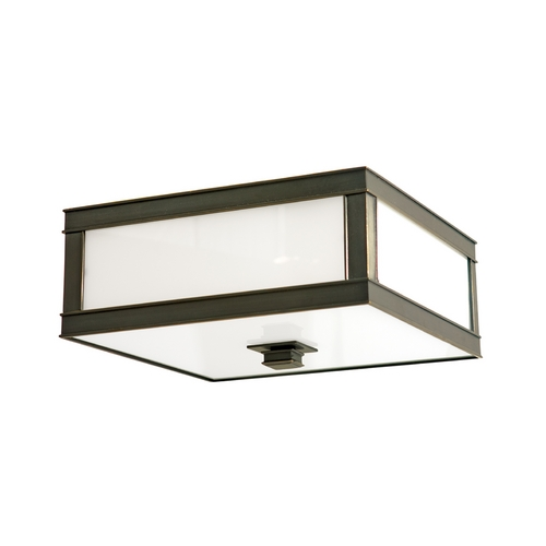 Hudson Valley Lighting Flushmount Light with White Glass in Old Bronze Finish 4216-OB