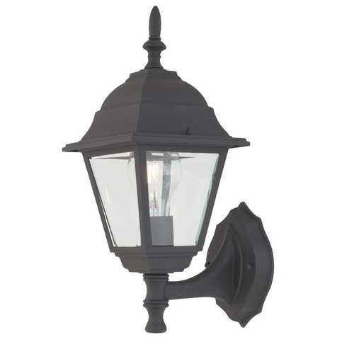 Design Classics Lighting 14-Inch Outdoor Wall Light 3171 BK
