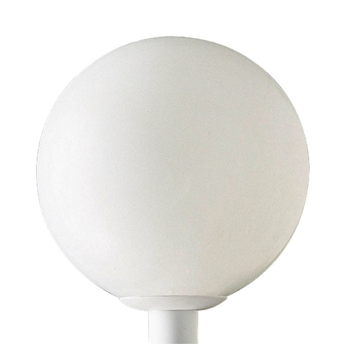 Progress Lighting Mid-Century Modern Post Light White Acrylic Globe by Progress Lighting P5436-60