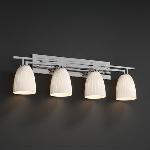 Justice Design Group Justice Design Group Fusion Collection Bathroom Light FSN-8704-18-RBON-CROM