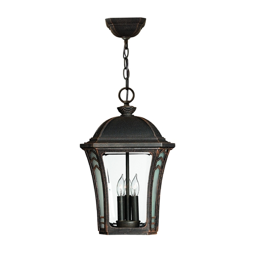 Hinkley Lighting LED Outdoor Hanging Light with Clear Glass in Mocha Finish 1332MO-LED