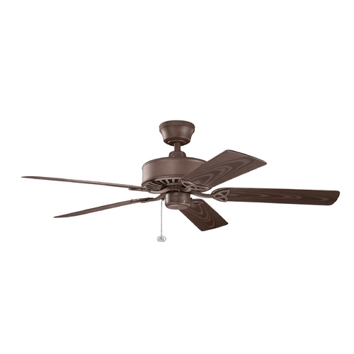 Kichler Lighting Kichler Lighting Renew Patio Tannery Bronze Powder Coat Ceiling Fan Without Light 339515TZP