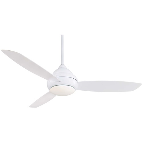Minka Aire Minka Aire Fans Concept I Wet White Ceiling Fan with Light F477-WH