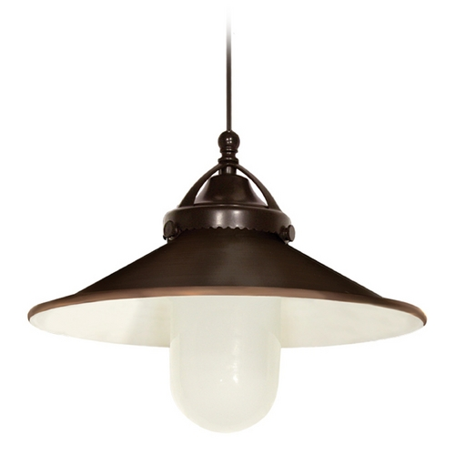 WAC Lighting Wac Lighting Early Electric Collection Dark Bronze LED Mini-Pendant with Coolie Sha MP-LED481-AB/DB