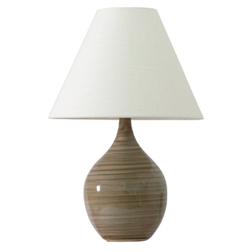 House of Troy Lighting House Of Troy Scatchard Tiger's Eye Table Lamp with Conical Shade GS200-TE