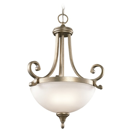 Kichler Lighting Kichler Lighting Monroe Pendant Light with Bowl / Dome Shade 43163SGD