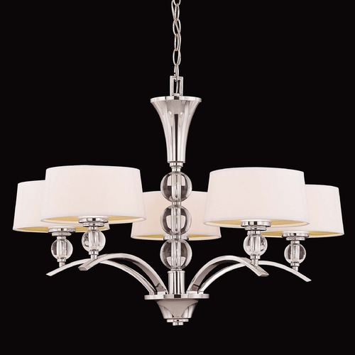Savoy House Savoy House Polished Nickel Chandelier 1-1035-5-109