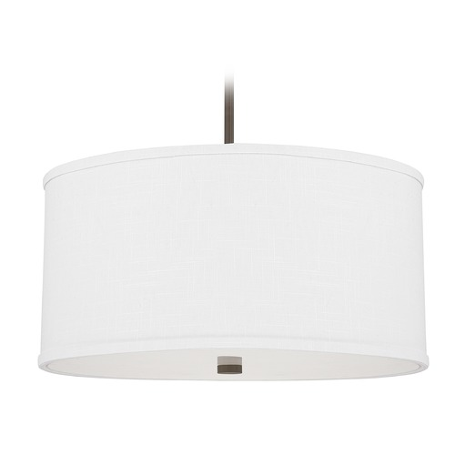 Capital Lighting Capital Lighting Midtown Burnished Bronze Pendant Light with Drum Shade 3910BB-457