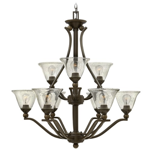 Hinkley Lighting Hinkley Bolla 2-Tier 9-Light Chandelier in Olde Bronze 4657OB-CL