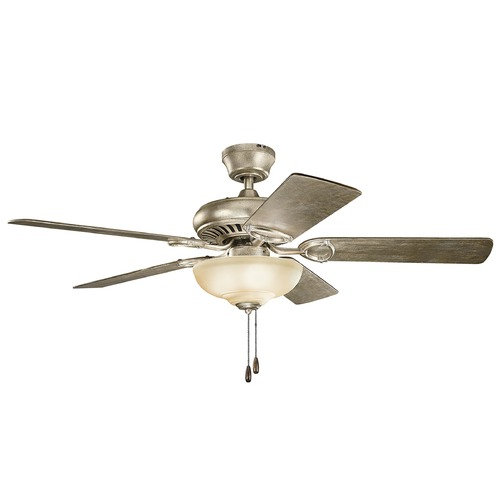 Kichler Lighting Kichler Lighting Sutter Place Select Sterling Gold Ceiling Fan with Light 339211SGD