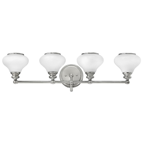 Hinkley Lighting Hinkley Lighting Ainsley Polished Nickel Bathroom Light 56554PN