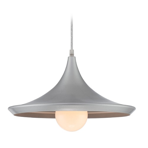 Lite Source Lighting Lite Source Landis Silver Pendant Light with Conical Shade LS-19602SILV