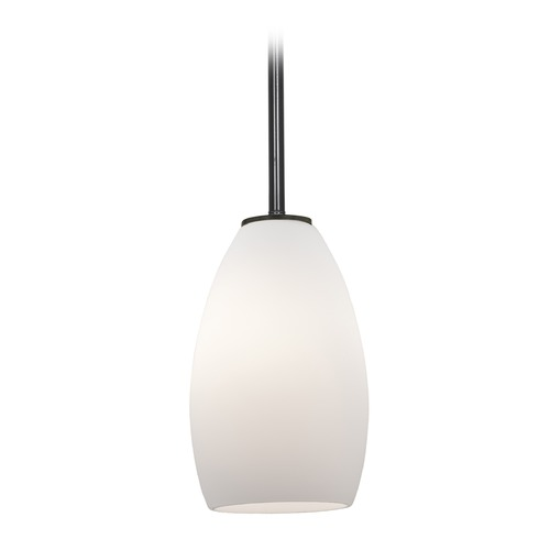 Access Lighting Access Lighting Champagne Oil Rubbed Bronze LED Mini-Pendant Light with Oblong Shade 28012-4R-ORB/OPL