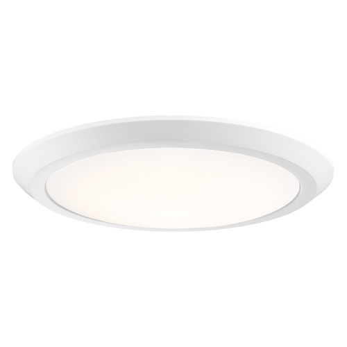 Quoizel Lighting Modern LED Flushmount Light White Verge by Quoizel Lighting VRG1616W