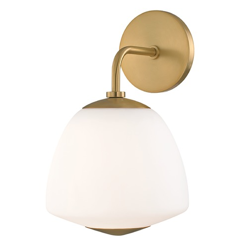 Mitzi by Hudson Valley Mitzi By Hudson Valley Mitzi Jane Aged Brass Sconce H288101-AGB