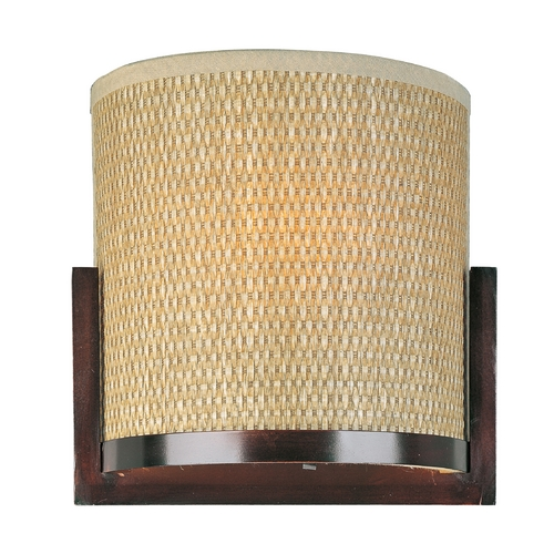 ET2 Lighting Modern Sconce Wall Light with Brown Tones Shade in Oil Rubbed Bronze Finish E95080-101OI