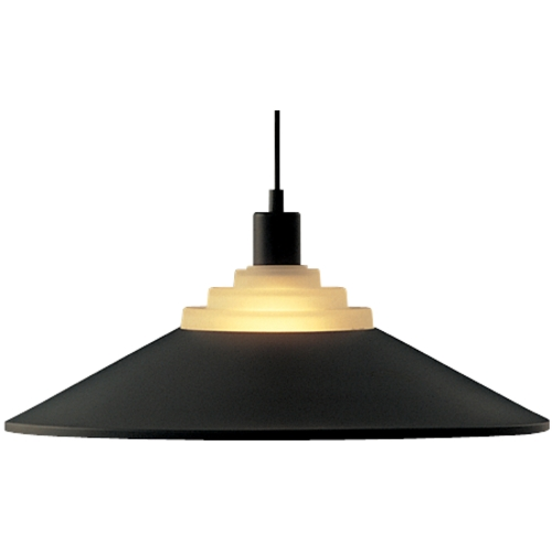 Dolan Designs Lighting Pendant Light with Black Metal Shade in Black 100-07