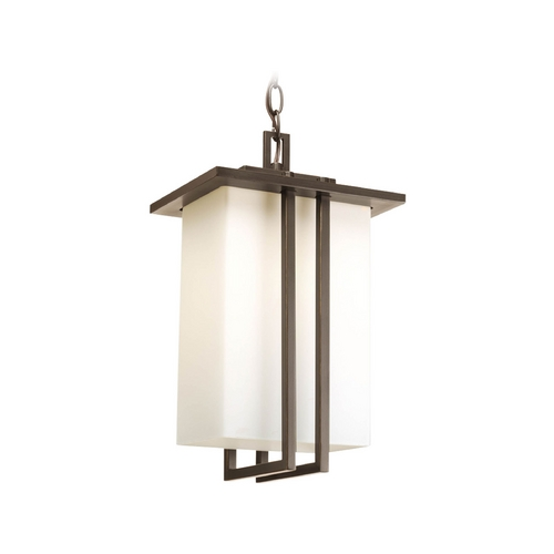 Progress Lighting Progress Modern Bronze Outdoor Hanging Light with White Glass P5590-20