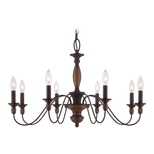 Quoizel Lighting Chandelier in Tuscan Brown Finish HK5008TC