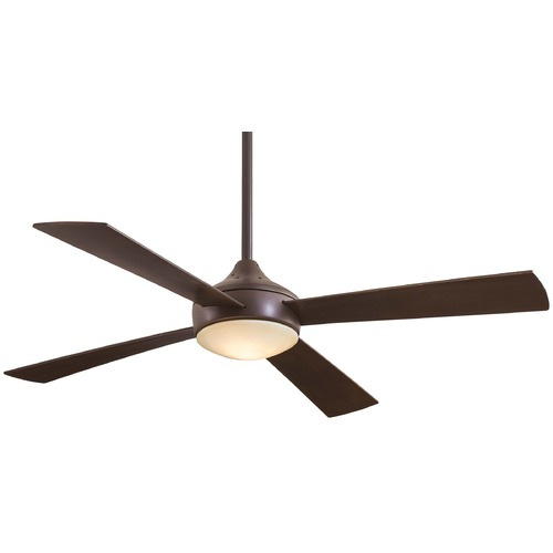 Minka Aire 52-Inch Minka Aire Fans Aluma Oil-Rubbed Bronze Ceiling Fan with Light F521-ORB