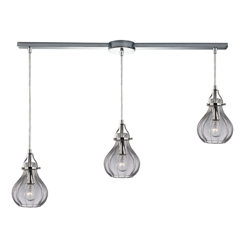 Elk Lighting Multi-Light Pendant Light with Clear Glass and 3-Lights 46014/3L