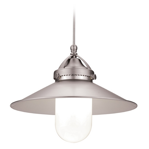 WAC Lighting WAC Lighting Brushed Nickel LED Mini-Pendant with Coolie Shade MP-LED481-BN/BN
