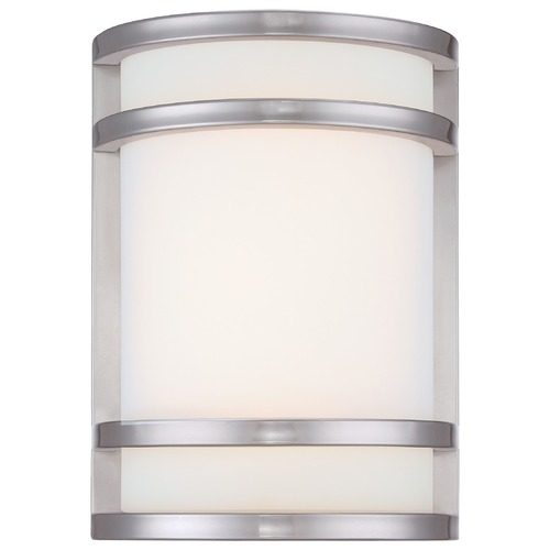 Minka Lavery Minka Lighting Bay View Brushed Stainless Steel LED Outdoor Wall Light 9801-144-L