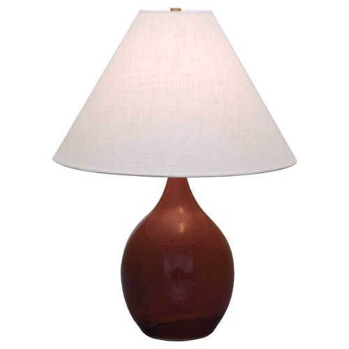 House of Troy Lighting House of Troy Scatchard Copper Red Table Lamp with Conical Shade GS300-CR