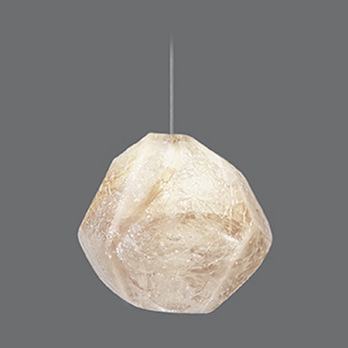 Fine Art Lamps Fine Art Lamps Natural Inspirations Gold-Toned Silver Leaf Mini-Pendant Light 851840-20ST