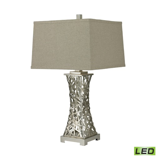 Dimond Lighting Dimond Lighting Silver Leaf LED Table Lamp with Square Shade D2604-LED