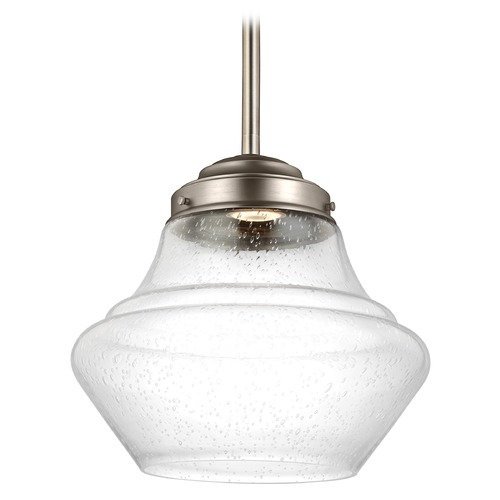 Feiss Lighting Feiss Lighting Alcott Satin Nickel LED Pendant Light P1407SN-LED