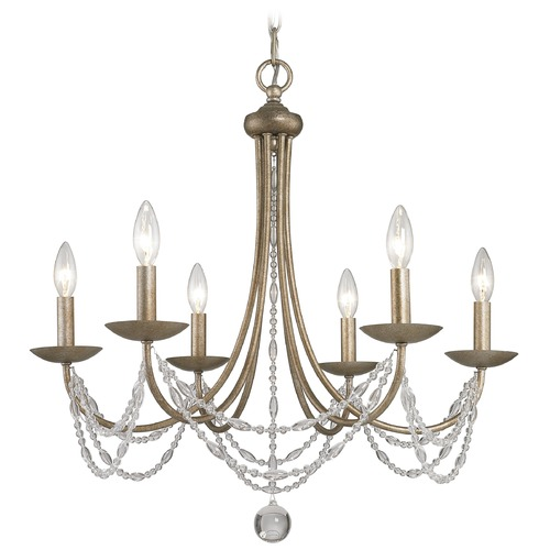 Golden Lighting Golden Lighting Mirabella Golden Aura Chandelier 7644-6 GA