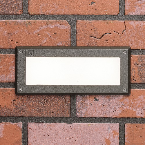 Kichler Lighting Kichler Lighting Landscape LED Textured Architectural Bronze LED Recessed Deck Light 15774AZT27R