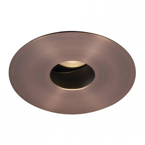 WAC Lighting WAC Lighting Round Copper Bronze 3.5-Inch LED Recessed Trim 3500K 435LM 15 Degree HR3LEDT618PS835CB