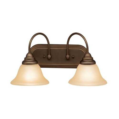 Kichler Lighting Kichler Bathroom Light with Alabaster Glass in Olde Bronze Finish 5992OZ
