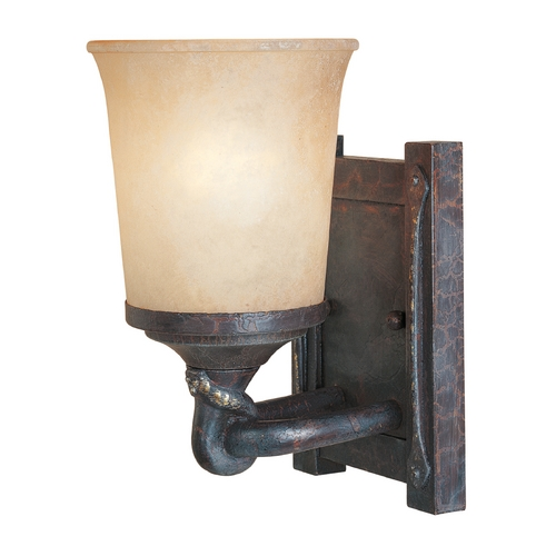 Designers Fountain Lighting Sconce Wall Light with Beige / Cream Glass in Weathered Saddle Finish 97301-WSD