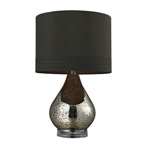 Dimond Lighting Table Lamp with Mercury Glass and Drum Shade D244