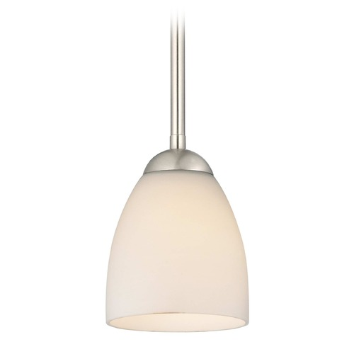 Design Classics Lighting Design Classics Gala Fuse Satin Nickel LED Mini-Pendant Light with Bell Shade 681-09 GL1028MB
